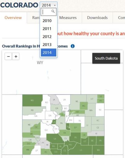 county health rankings 2014