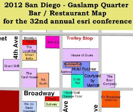San Diego gaslamp map 2012