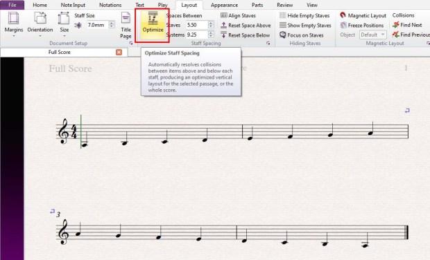 Sibelius - Optimize