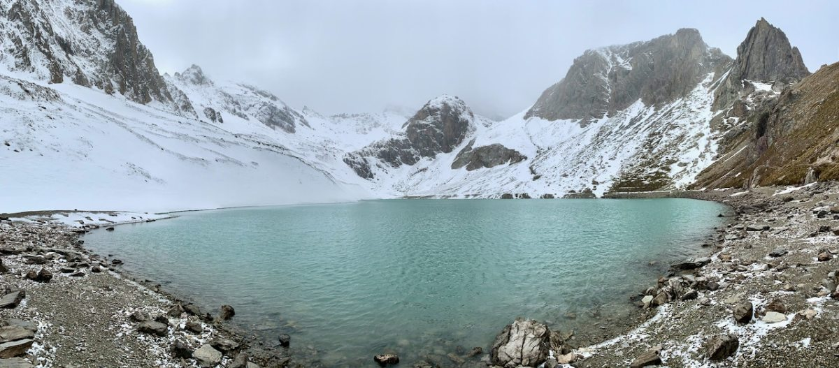 immagine panoramica del lac des beraudes