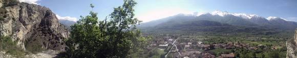 vista panoramica su Bussoleno dal sentiero dell'Orrido di Foresto