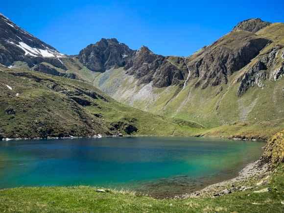 Il lago lavodilec in Val Clavalité