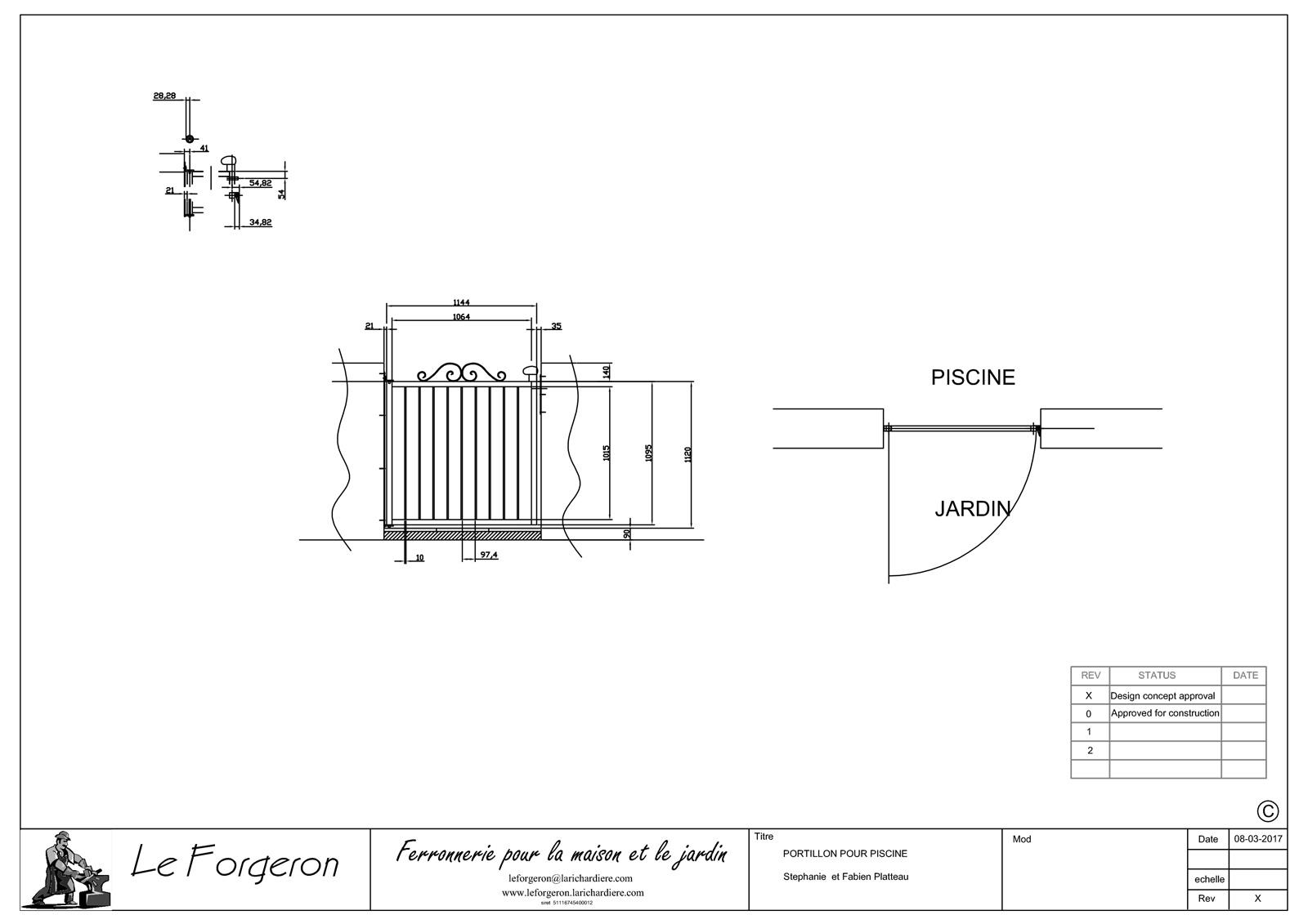 Construction des piliers de la piscine - Gîtes La Bréjolière