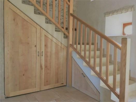 Aménagement sous l'escalier