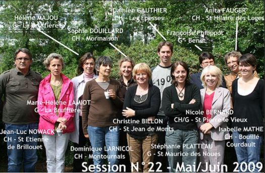 Formation porteurs de projet session 2009