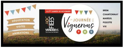 Journée des vignerons AOC Fiefs vendéens