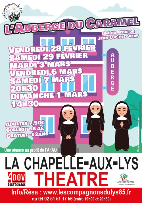 Gîtes La Bréjolière propose une sortie le théâtre à La Chapelle aux Lys