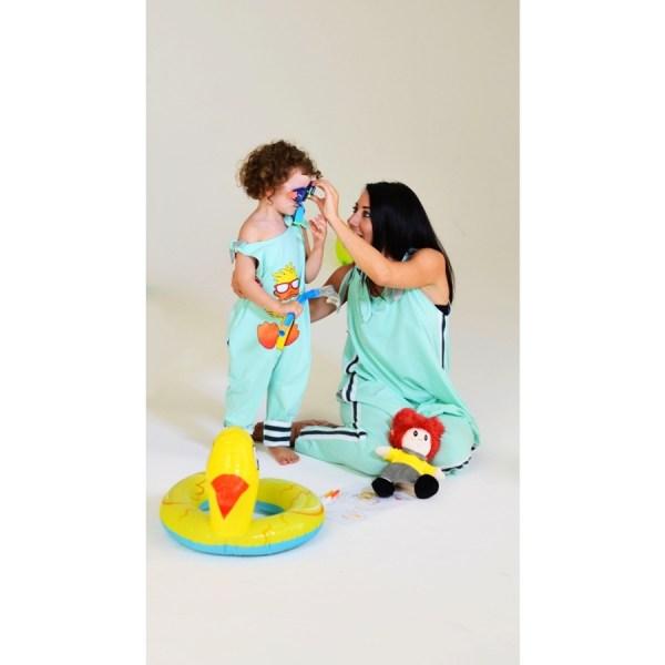 salopette coordinata mamma e fifglio