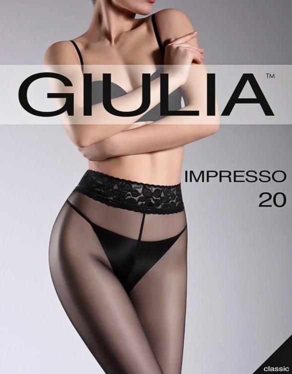 GIULIA IMPRESSO 20 csipke derekú harisnya