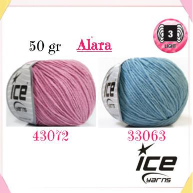 Il filato adatto per gli amigurumi è il cotone/acrilico Alara Ice Yarns