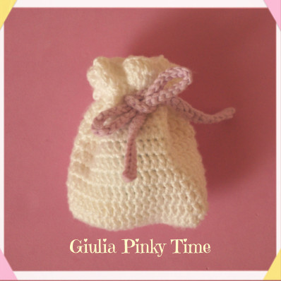 Photo: crochet Gift sack with cord - Giulia Pinky Time