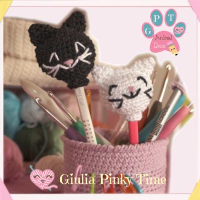 decorazioni-matite-testa-gatto-amigurumi