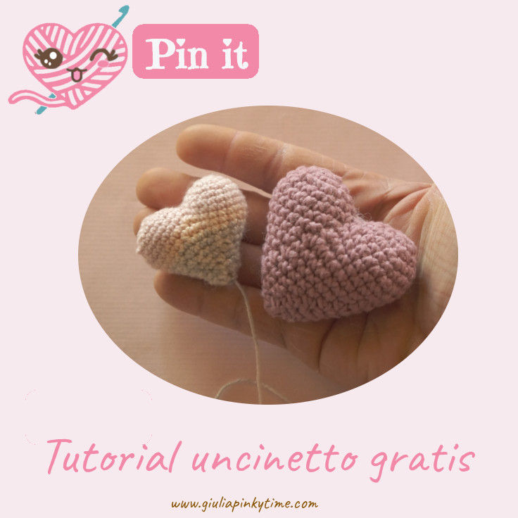 Salva tutorial uncinetto cuore amigurumi su Pinterest.