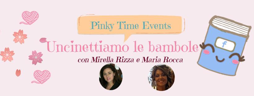 bambole uncinetto - secondo evento maggio pinky time zoom