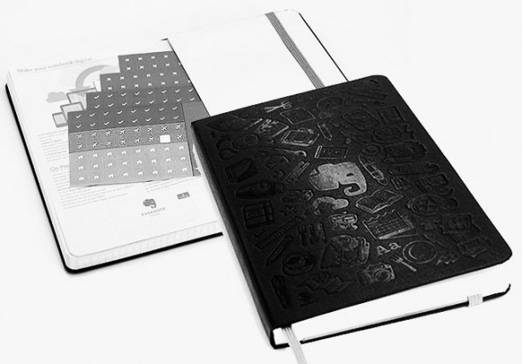 Moleskine Evernote Smart Notebook with the bundled stickers