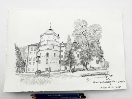 Gripsholms Slott Teckning