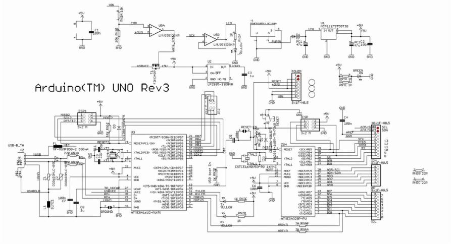 Assemblaggio microcontrollore arduino uno r con scheda