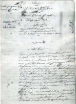 """Giuseppe Basile inizio del manoscritto della """"Storia della ferita del Generale Garibaldi toccata in Aspromonte il 29 agosto 1862"""""""