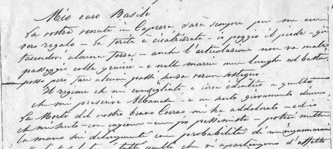 Lettere autografe di Garibaldi a Basile