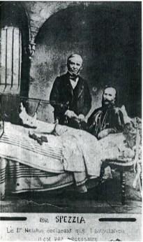 Garibaldi consulto medico con il professore Nelaton, francese