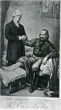 Garibaldi consulto medico con il professore Partridge, inglese