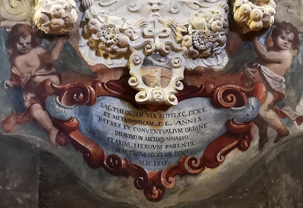 Monumento Matteo Ferchio (1671) Autore del XVII secolo Particolare