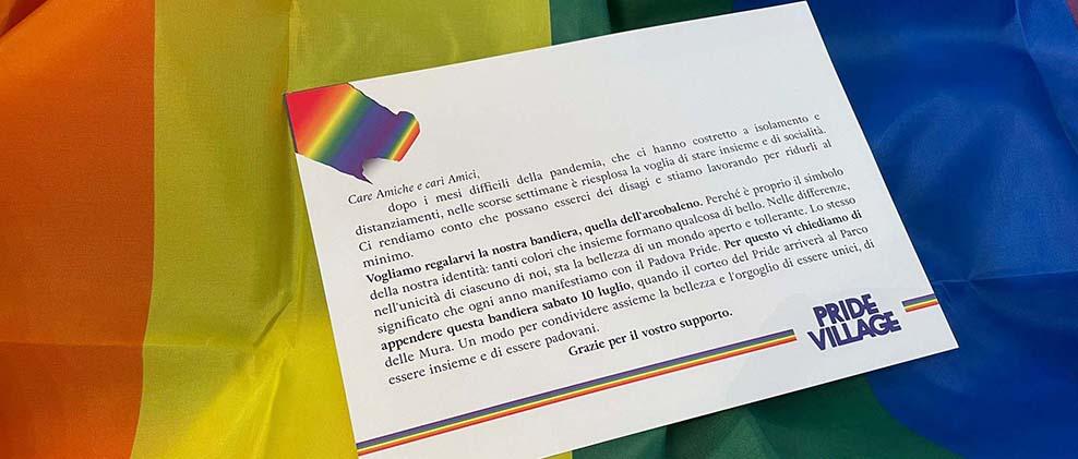 Un regalo arcobaleno per i padovani