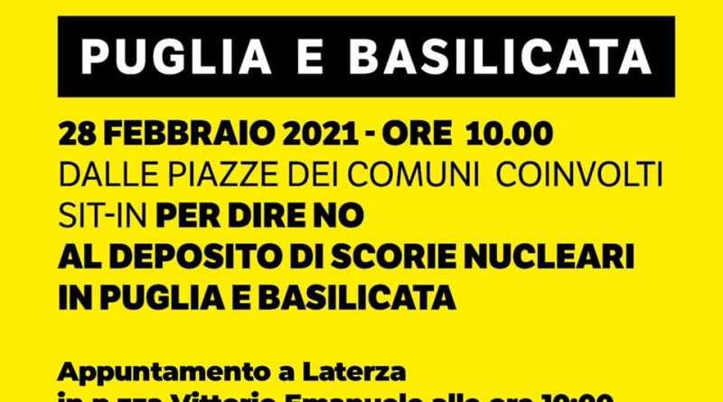 Domenica 28 sit-in a Laterza contro il deposito delle scorie nucleari