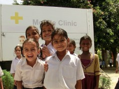 Medical Camp in einer Grundschule