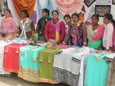 Ausstellung der Schülerinnen des Berufsausbildungszentrums