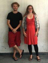 """Inga and her brother Hendrik """"backstage"""""""