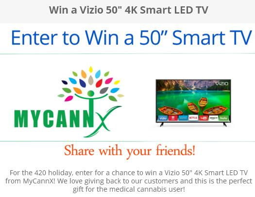 Vizio 50 4K Smart LED TV Sweepstakes – Chance to Win A Vizio Smart LED TV