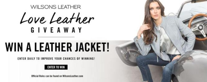 Love Leather Giveaway Sweepstakes – Chance to Win a Wilson's Leather Jacket