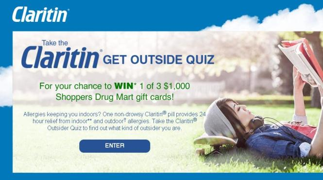 Claritin Get Outside Contest – Chnace to Win Gift Card Prize