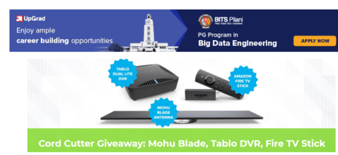 Cord Cutter Giveaway