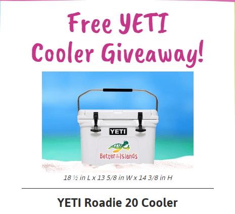 Free YETI Cooler Giveaway