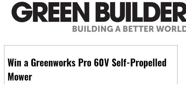 Greenworks Pro 60V Mower Giveaway – Chance to Win 60V Mower Prize