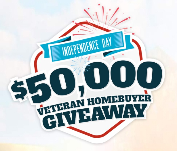 $50,000 Veteran Homebuyer Giveaway - Win Fifty Thousand Dollars Cash