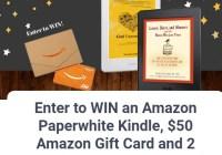 Amazon Paperwhite Kindle Giveaway