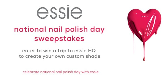 Essie National Nail Polish Day Sweepstakes