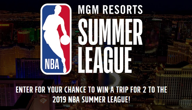MGM RESORTS NBA SUMMER LEAGUE 2019 CONTEST - Enter To Win Trip