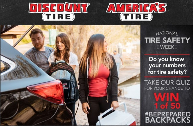 National Tire Safety Week Sweepstakes - Win One Discount Tire