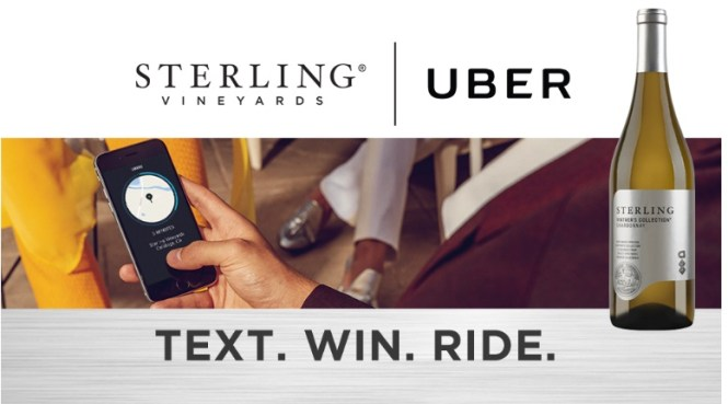 Treasury Wine Estates Americas Company The Sterling Uber Sweepstakes - Win $10 Uber Credit