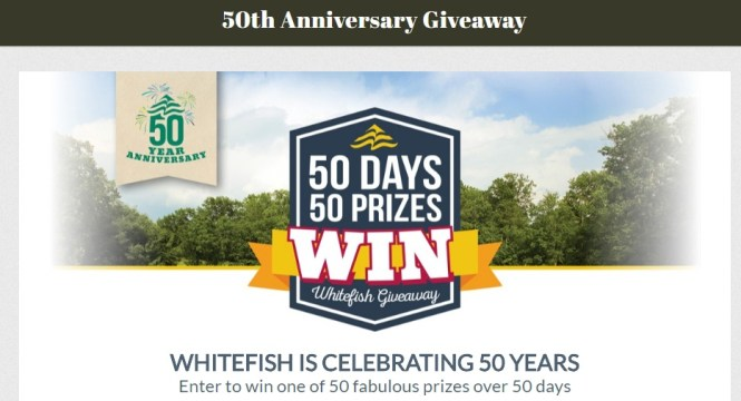 Whitefish Golf Club 50th Anniversary Giveaway - Win $1000 And Many More Prizes