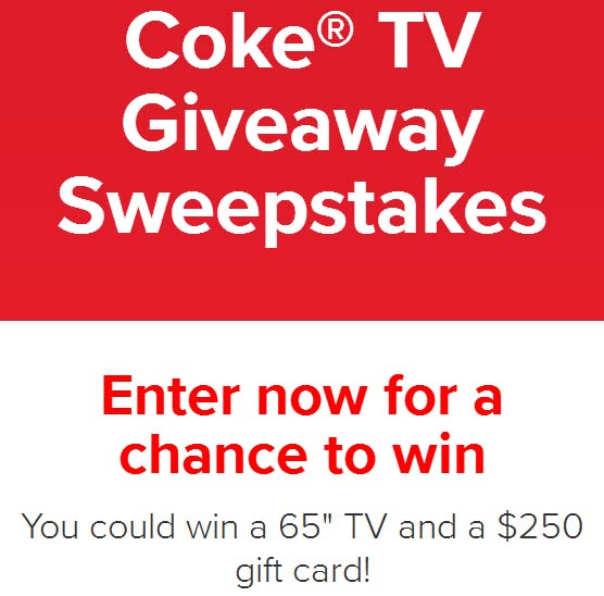 Coke TV Giveaway Sweepstakes - Chance To Win 65