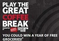 Eight O'Clock Coffee Company The Great Coffee Break Sweepstakes