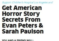 Get American Horror Story Secrets From Evan Peters & Sarah Paulson Giveaway