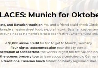 Go Palace Munich Sweepstakes - Win $1,000 Airline Credit