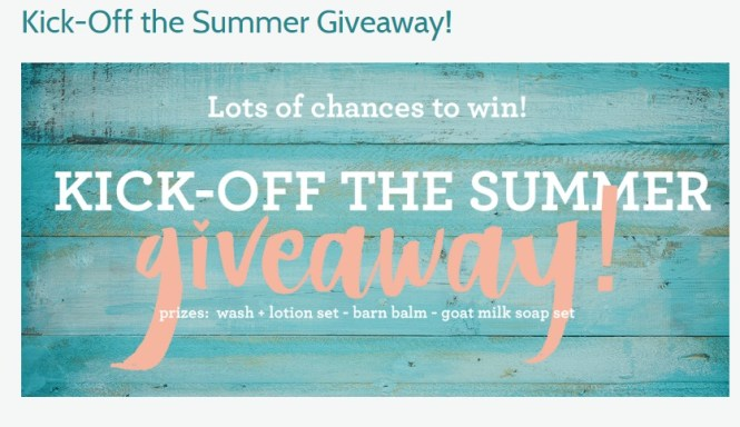 Kick Off The Summer Giveaway - Win Wash + Lotion Set