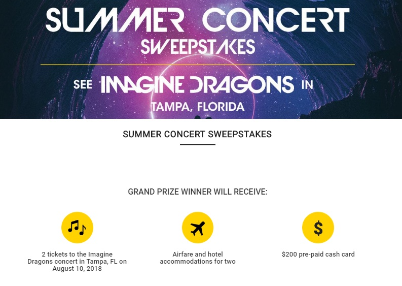 Summer concert series sweepstakes